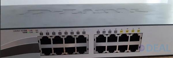 Switch DLINK 16 porturi Gigabit, fiber