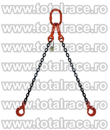 Dispozitiv de lanturi cu 2 brate si chei de tachelaj omega productie Crosby