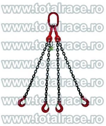 Dispozitive de ridicare din lant cu 4 brate cu carlige rotative cu siguranta
