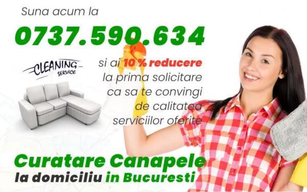 Curatare canapele Bucuresti. Curatare la domiciliu