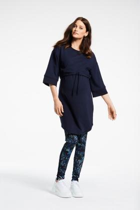 Colanti/leggings gravide cu imprimeu Queen Mum