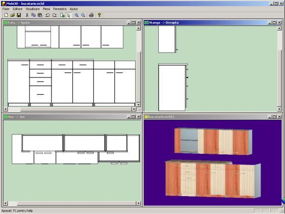 Soft romanesc pt proiectare mobila PAL cu interfata 3D